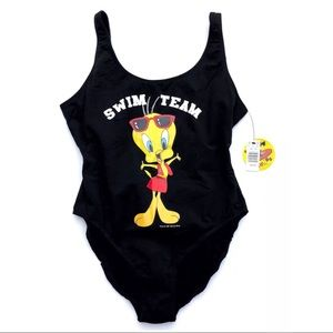 Vintage NEW Looney Tunes Tweety 1-pc Swimsuit plus
